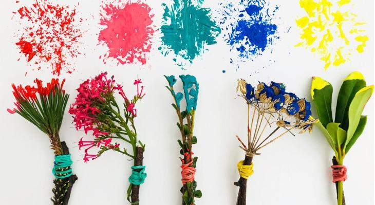 Make some nature paint brushes