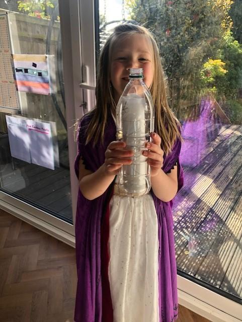 Ava and her message in a bottle