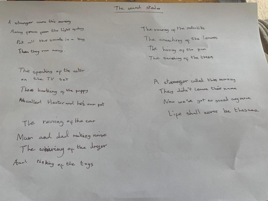 Chloe's Sound Poem
