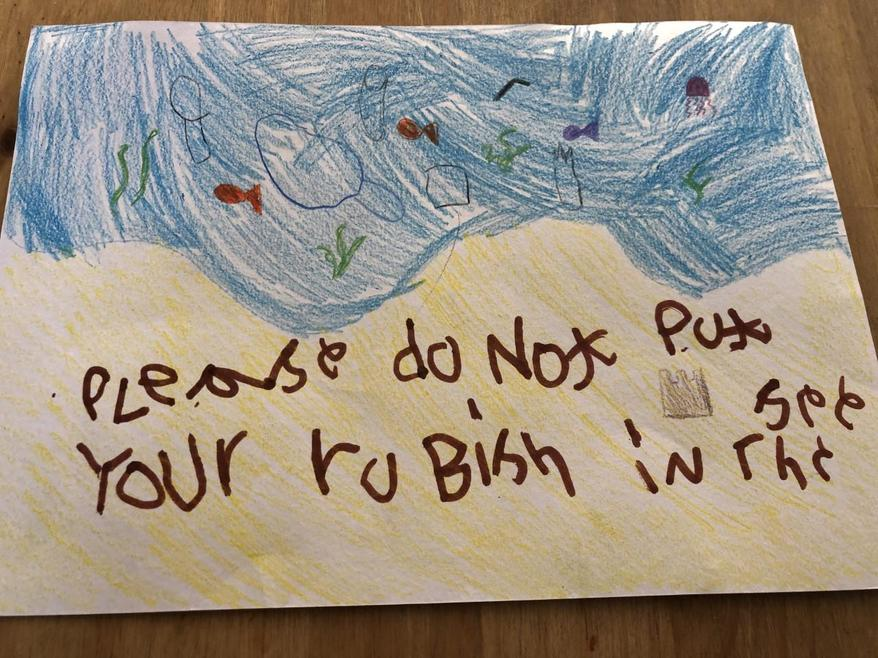 Max's poster to save the ocean
