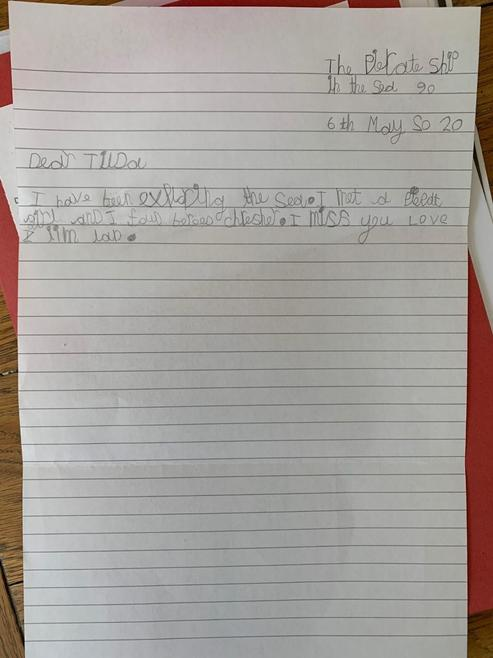 Lilla's lovely letter