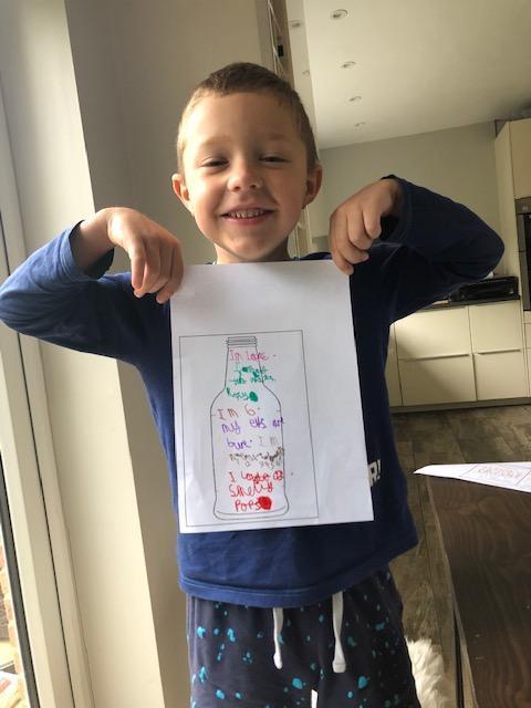 Lucas' message in a bottle