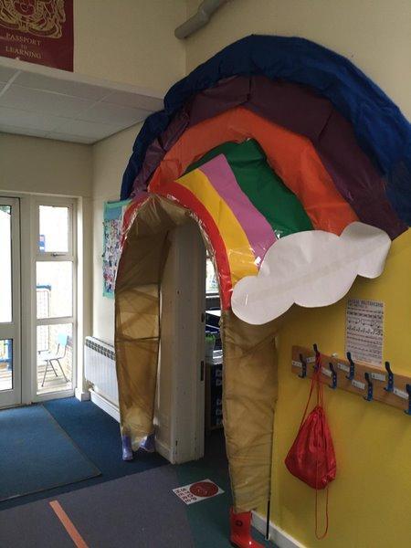 Our new rainbow doorway