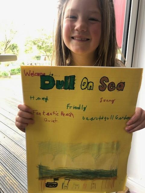 Ava and her Dull on Sea advertisement