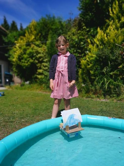 Elodie's Dorman's Deck raft which floats!