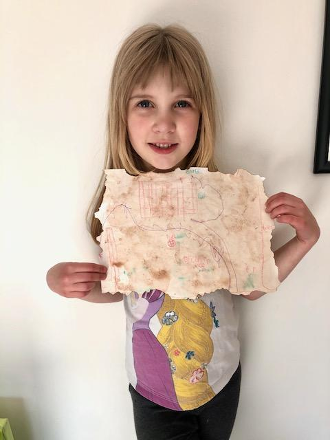 Abby's great tea stained treasure map