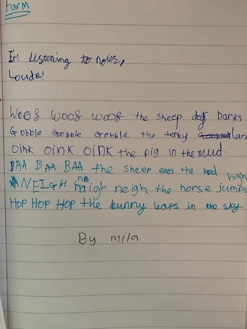 Mila's Poem