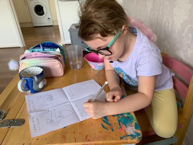 A.Belle learning hard