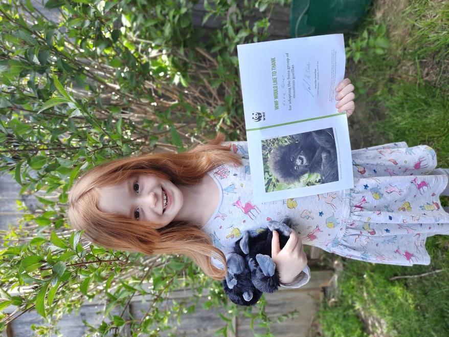 Ella has adopted a Gorilla! How special!