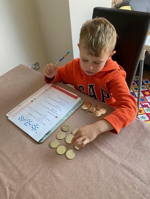Murray using his treasure as counters