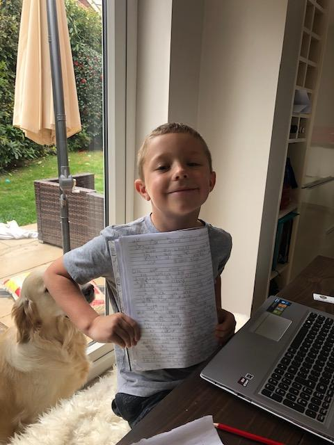 Lucas is learning