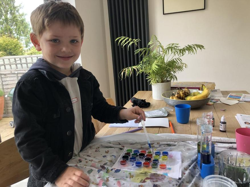 Ellis and  his colour mixing