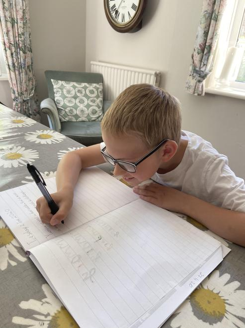 Finlay, Hard at Work!