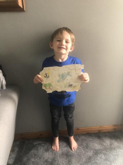 Max's pirate treasure map