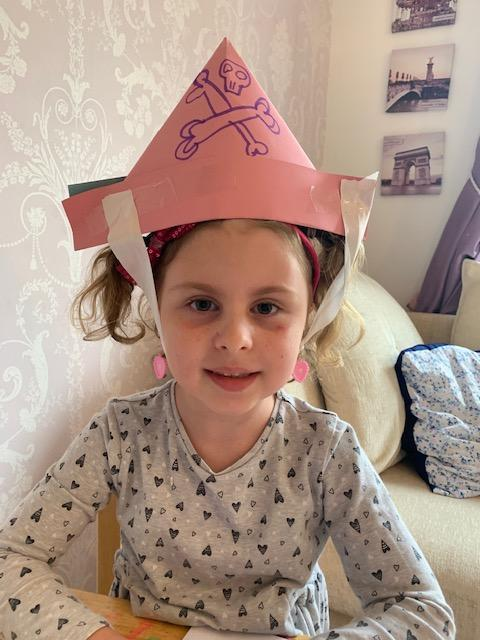 Alaura-Belle and her pirate hat
