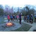 An evening round the campfire