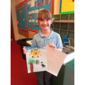 Tilly painted and wrote a magical story.