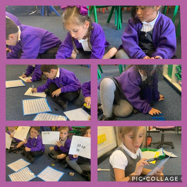 Working together in maths.
