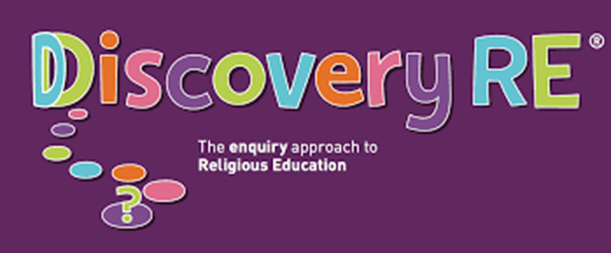 A purple banner showing the Discovery RE logo in multicoloured writing.