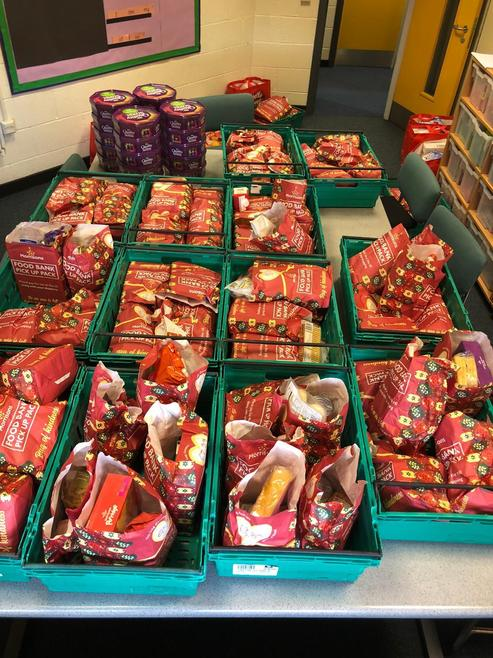 Morrisons supplied 16 food hampers for families.