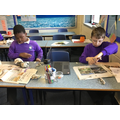 Modelling using newspaper.