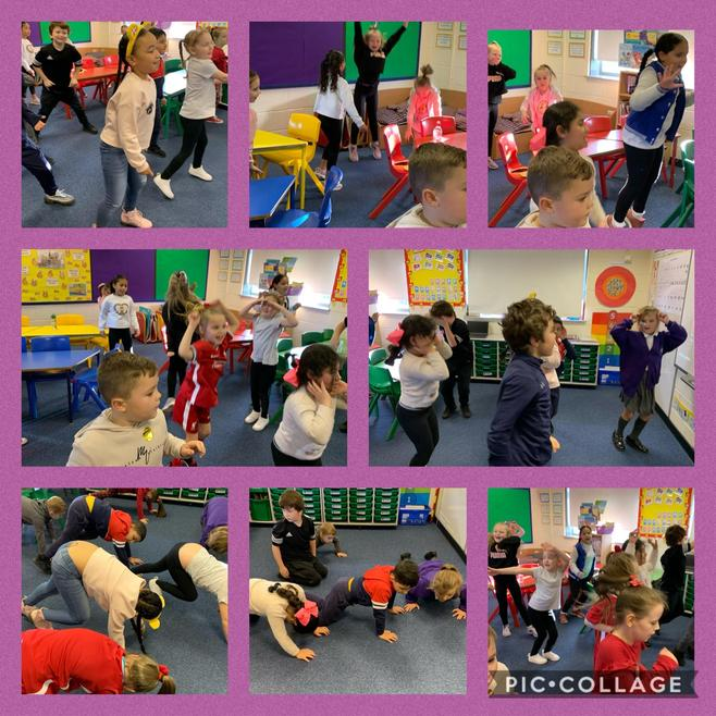 Joining in with Joe Wicks' 24 hour PE challenge.