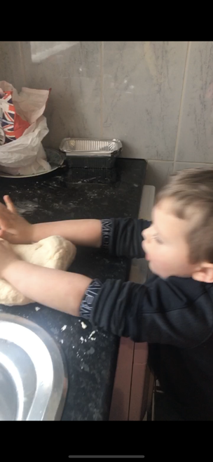 Making home-made bread!