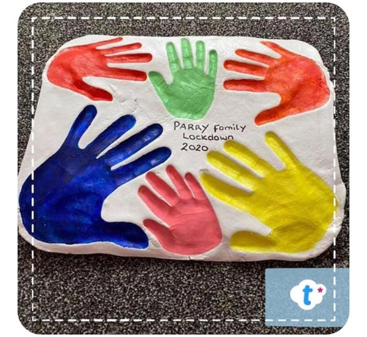 An idea from twinkl today that can be used in a wide range of ways. Make salt dough - recipe below - and create handprints for those in your house as a memento to look back on in better times, or make as gifts for loved ones to remind them how much you miss them.    You will need  1/2 a cup of sat 1/2 a cup of water  1 cup of flour  Mix the salt and flour together.  Gradually add the water until it makes a dough but isn't sticky.  If it becomes sticky add a little more flour. Roll out on a floured surface and make your shape/design.  Leave to harden up and dry.  Once it is dry enough to bake put in a 150* oven for an hour.  Let cool and then decorate.