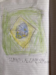 Brazilian flag by Catherine.