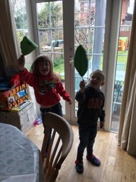 Showing off their lovely homelearning activities