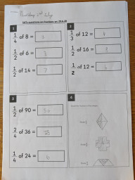 Fractions work by Layla