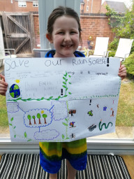 This is such a brilliant poster on the rainforest.
