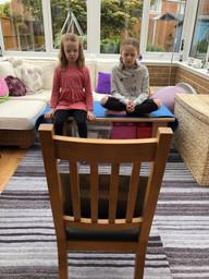 Online PE lesson-meditating