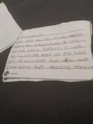 A wonderfully written letter by Nevaeh