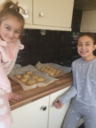 Baking with sister