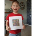 Connor has worked very hard on his mosaic.