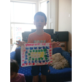 Ivan has worked hard on his mosaic.