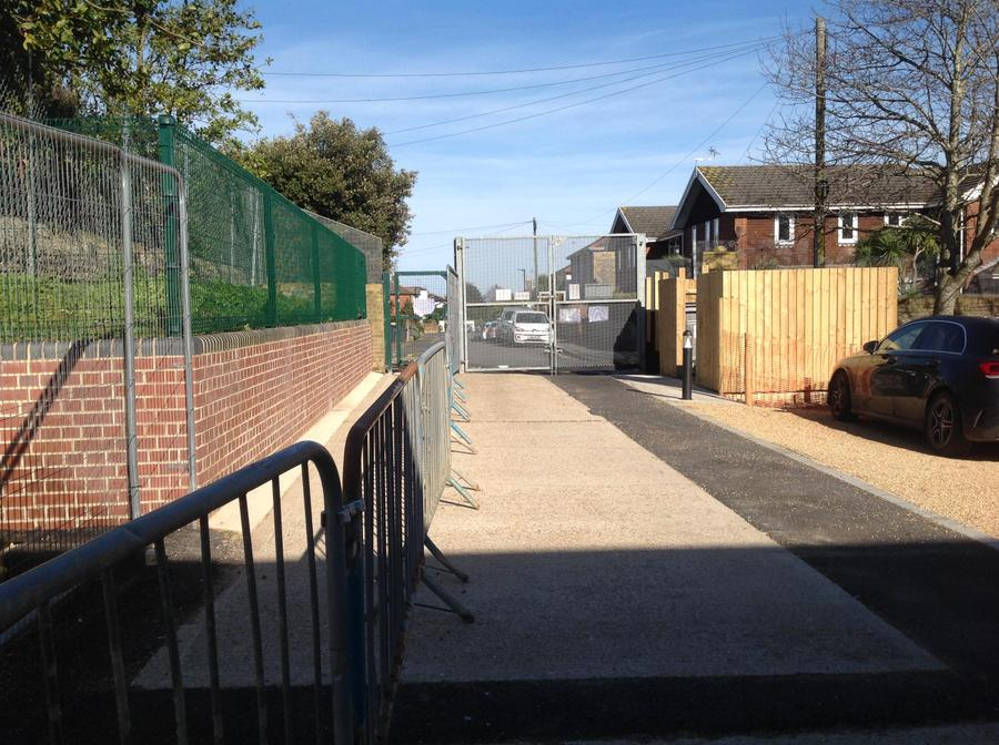 view back towards winton street gate for only selected pupils contacted by Mrs Shaer