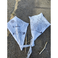 Ellen and Sian have been making kites.