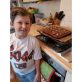 Theo has made some delicious brownies.