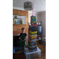 Ben had great fun making his tower this week.