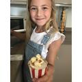 Summer's delicious toffee popcorn cupcakes.