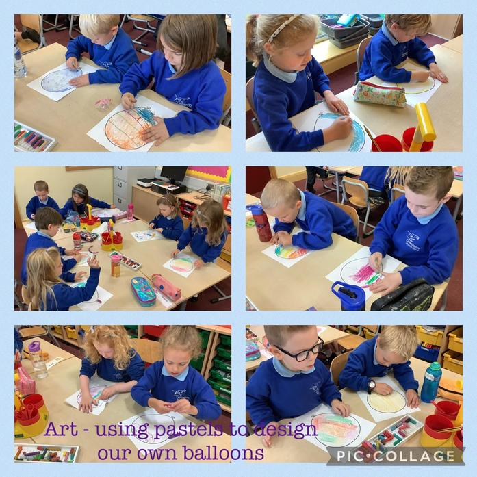 Designing balloons as part of our Up, up and away topic