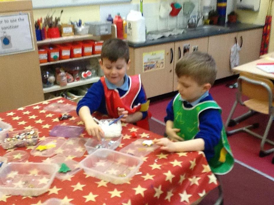 Decorating our bread decorations