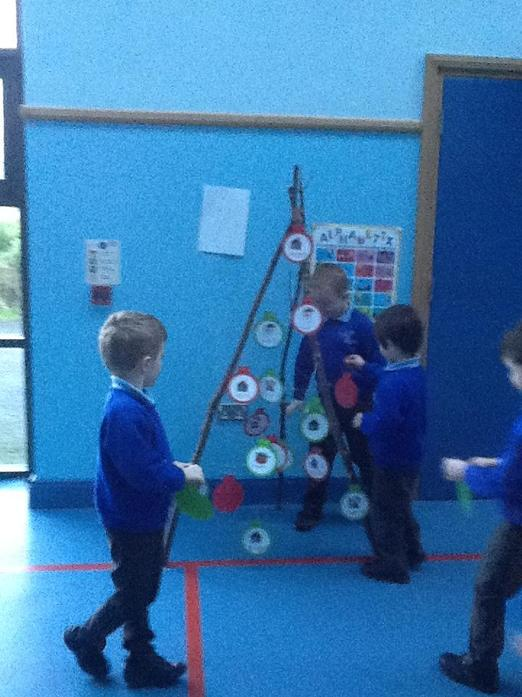 We used our problem-solving skills to make our wooden tree