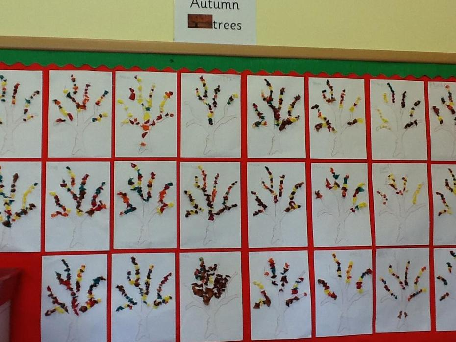 We made autumn trees