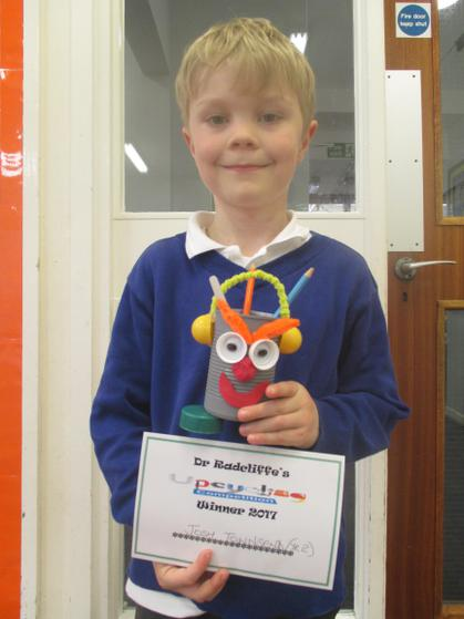 Year 1 & 2 Winner - Josh and his pencil pot