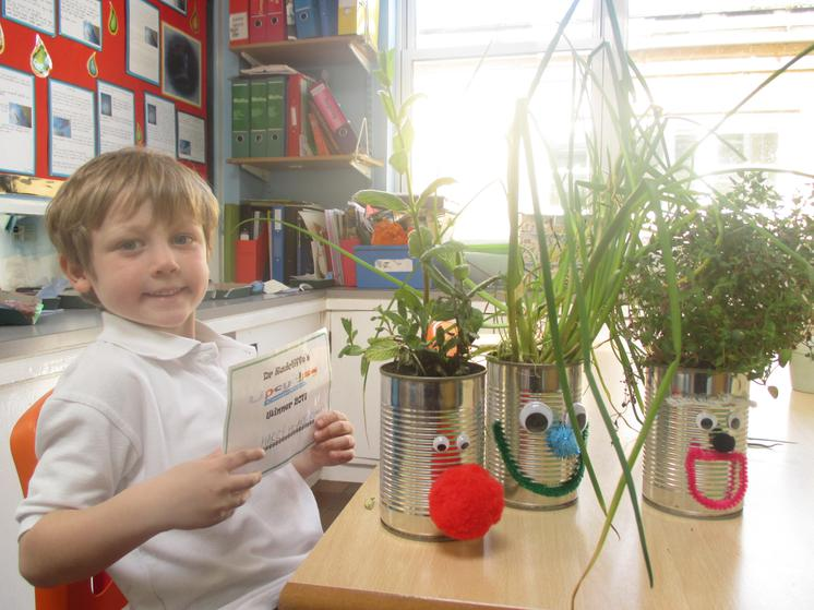 Class R  Winner - Harry and his plant pots