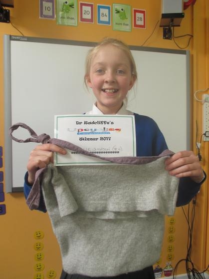 Year 5 & 6 Winner - Ellie with her jumper bag
