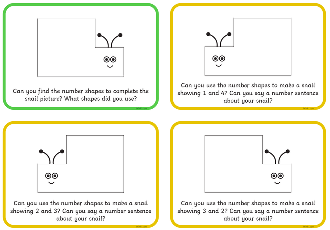 An example of a number sentence is 2 + 3 = 5